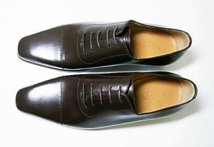 No.2 靴 メンズ レースアップシューズ(ココア)