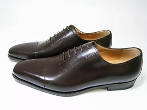 No.3 靴 メンズ レースアップシューズ(ココア)