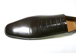 No.6 靴 メンズ レースアップシューズ(ココア)