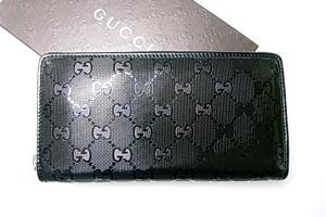 34a3bc861efb グッチ ] インプリメGG柄ラウンドファスナー長財布(ブラック) - G-5516