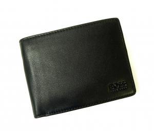 No.8 財布 AREZZO ソフトレザー三つ折(ブラック)