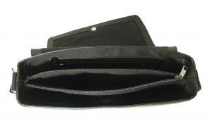 No.7 メッセンジャーバッグ メンズ フラップバッグ (ブラック)