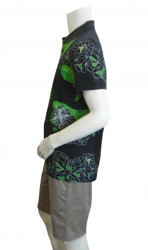 No.2 ポロシャツ ボスグリーン メンズ Paule8 ゴルフ用(ボタニカル)Mサイズ