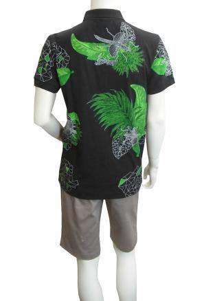 No.3 ポロシャツ ボスグリーン メンズ Paule8 ゴルフ用(ボタニカル)Mサイズ