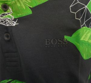 No.5 ポロシャツ ボスグリーン メンズ Paule8 ゴルフ用(ボタニカル)Mサイズ