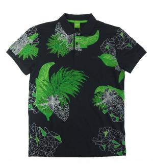No.7 ポロシャツ ボスグリーン メンズ Paule8 ゴルフ用(ボタニカル)Mサイズ