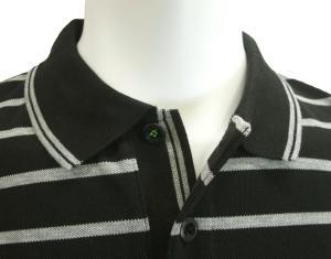 No.6 ポロシャツ ボスグリーン メンズ Paddy1 ゴルフ用 (ブラック)
