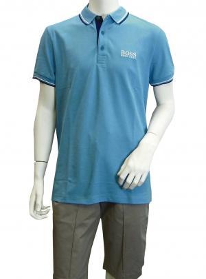 ヒューゴ・ボス ポロシャツ ボスグリーン PADDY ゴルフ用 Sサイズ(オープンブルー) MainPhoto