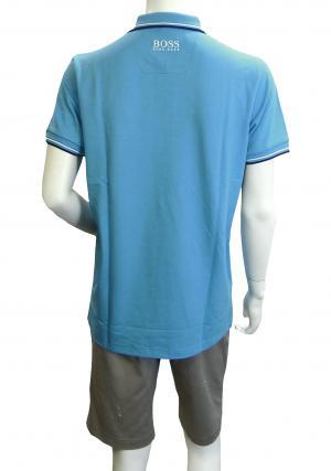 No.2 ポロシャツ ボスグリーン PADDY ゴルフ用 Sサイズ(オープンブルー)