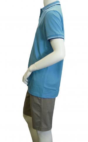 No.3 ポロシャツ ボスグリーン PADDY ゴルフ用 Sサイズ(オープンブルー)