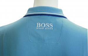 No.4 ポロシャツ ボスグリーン PADDY ゴルフ用 Sサイズ(オープンブルー)