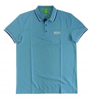 No.5 ポロシャツ ボスグリーン PADDY ゴルフ用 Sサイズ(オープンブルー)