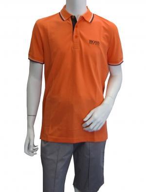 ヒューゴ・ボス ポロシャツ ボスグリーン PADDY ゴルフ用 (オレンジ)