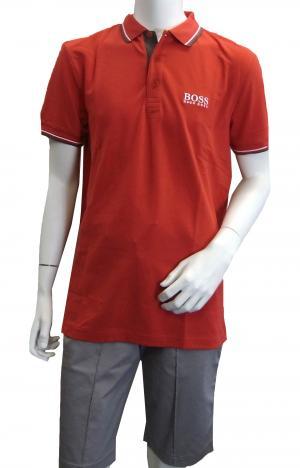 ヒューゴ・ボス ポロシャツ ボスグリーン PADDY ゴルフ用 Sサイズ (レッド)