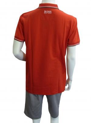 No.2 ポロシャツ ボスグリーン PADDY ゴルフ用 Sサイズ (レッド)