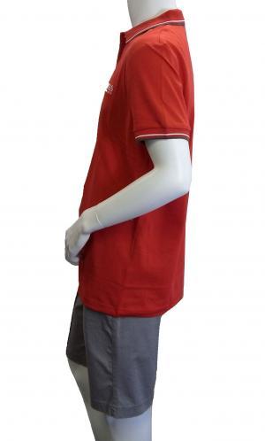 No.3 ポロシャツ ボスグリーン PADDY ゴルフ用 Sサイズ (レッド)