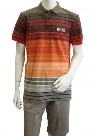 ヒューゴ・ボス ポロシャツ ボスグリーン メンズ Paddy Pro1 ゴルフ用 Sサイズ(レッド)