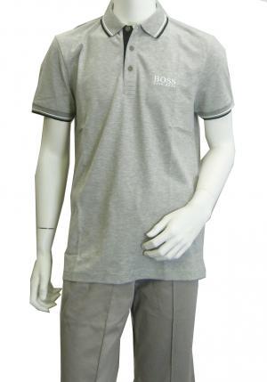 ヒューゴ・ボス ポロシャツ ボスグリーン PADDY Lサイズ ゴルフ用 (グレー)