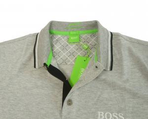 No.5 ポロシャツ ボスグリーン PADDY Lサイズ ゴルフ用 (グレー)
