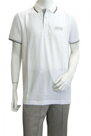ヒューゴ・ボス ポロシャツ ボスグリーン PADDY ゴルフ用 (ホワイト) Sサイズ