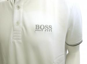 No.2 ポロシャツ ボスグリーン PADDY ゴルフ用 (ホワイト) Sサイズ