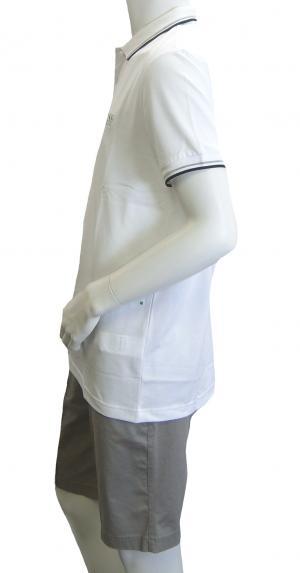 No.3 ポロシャツ ボスグリーン PADDY ゴルフ用 (ホワイト) Sサイズ
