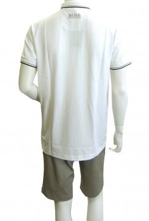 No.4 ポロシャツ ボスグリーン PADDY ゴルフ用 (ホワイト) Sサイズ