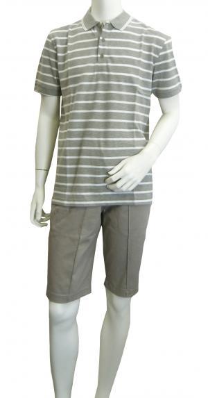 No.2 ポロシャツ ボスグリーン メンズ Paddy1 ゴルフ用 (グレー)