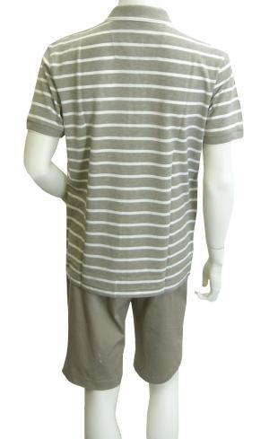 No.5 ポロシャツ ボスグリーン メンズ Paddy1 ゴルフ用 (グレー)