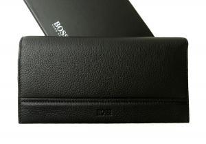 ヒューゴ・ボス 長財布 メンズ ソフトグレインレザー 二つ折 (ブラック)