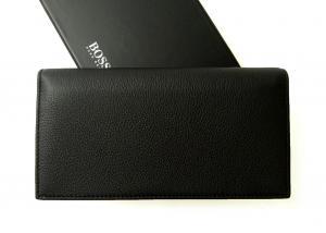 No.2 長財布 メンズ ソフトグレインレザー 二つ折 (ブラック)
