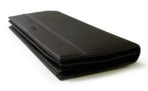 No.3 長財布 メンズ ソフトグレインレザー 二つ折 (ブラック)