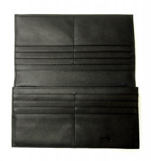No.4 長財布 メンズ ソフトグレインレザー 二つ折 (ブラック)