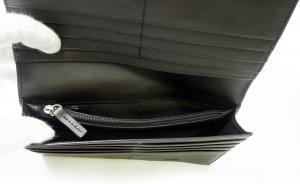 No.5 長財布 メンズ ソフトグレインレザー 二つ折 (ブラック)