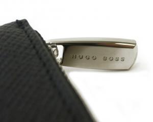 No.4 長財布 メンズ ラウンドファスナー (ダークブルー) 型押し牛革