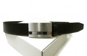 ヒューゴ・ボス <訳あり・アウトレット> ベルト メンズ BAXTON(ブラック)90cm