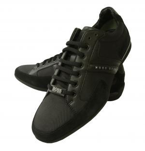 ヒューゴ・ボス スニーカー  靴 シューズ キャンバス レザー BOSS GREEN SPACIT(ブラック)