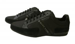 No.2 スニーカー  靴 シューズ キャンバス レザー 45(日本サイズ約27.5cm) BOSS GREEN SPACIT(ブラック)