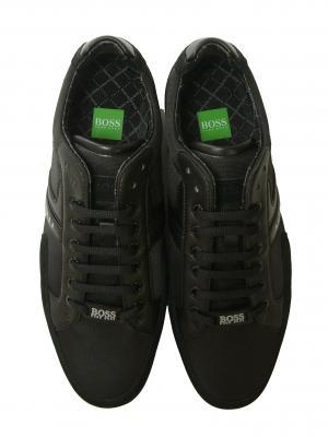 No.3 スニーカー  靴 シューズ キャンバス レザー 45(日本サイズ約27.5cm) BOSS GREEN SPACIT(ブラック)