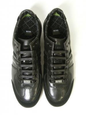 No.5 スニーカー  靴 シューズ BOSS GREEN  レザー AKI (ブラック)