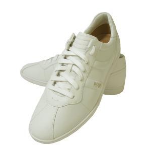 ヒューゴ・ボス スニーカー  靴 シューズ BOSS GREEN  レザー Rumba(ホワイト)