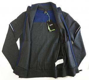 No.3 ブルゾン スウェット ジャケット ゴルフ ジップシャツ ブルー