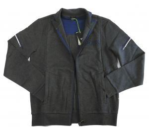 No.4 ブルゾン スウェット ジャケット ゴルフ ジップシャツ ブルー