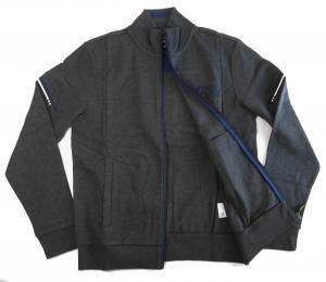 No.7 ブルゾン スウェット ジャケット ゴルフ ジップシャツ ブルー