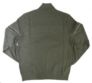 No.2 ブルゾン スウェット ジャケット ゴルフ ジップシャツ グレー