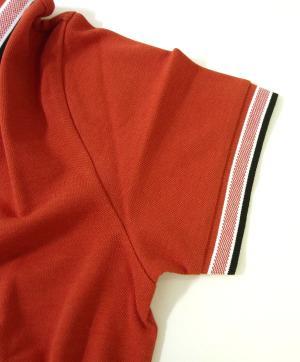 No.3 ポロシャツ メンズ PADDY ゴルフ用(ダークレッド)