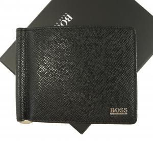 ヒューゴ・ボス メンズ マネークリップ カードケース (ブラック)