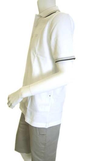 No.6 ポロシャツ ボスグリーン PADDY ゴルフ用 (ホワイト)