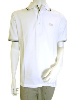No.7 ポロシャツ ボスグリーン PADDY ゴルフ用 (ホワイト)