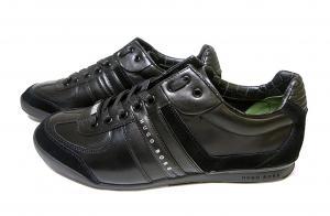 No.3 スニーカー  靴 シューズ BOSS GREEN  レザー AKI (ブラック)